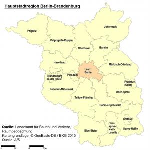 Karte Hauptstadtregion