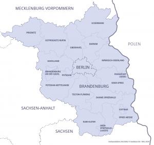 Karte Hauptstadtregion Berlin-Brandenburg