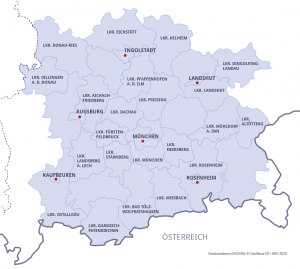 Karte Metropolregion München