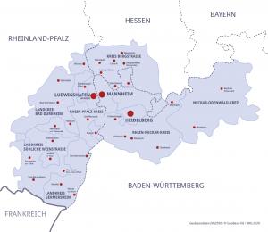 Karte Rhein-Neckar